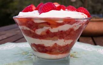 Strawberries and Cream, Dolomite Style!