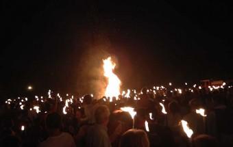 The Bonfire for St Jean, Valbonne, France