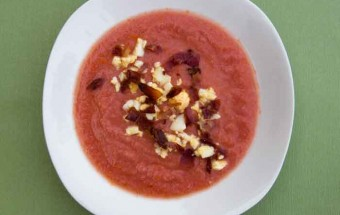 Salmorejo: cold tomato and bread soup from Spain
