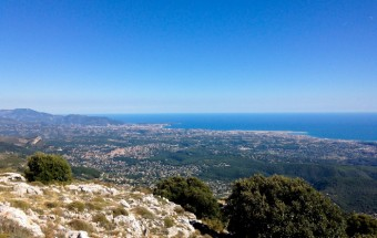 Pic de Courmettes looking toward Nice, France