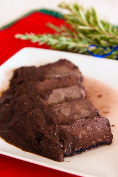 how to cook roast beef in red wine
